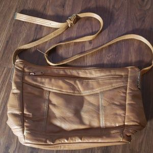 Capezio purse bag brown tan